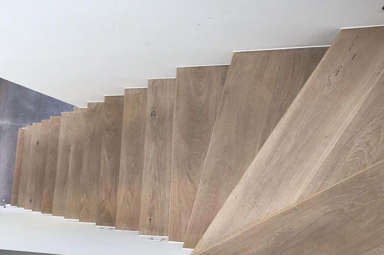 Parquet Chêne clair Sable escalier 3