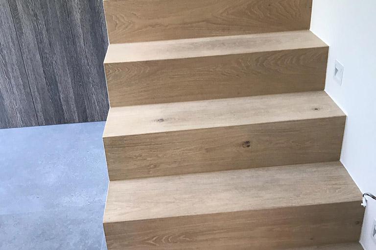 Parquet Chêne clair Sable escalier 2